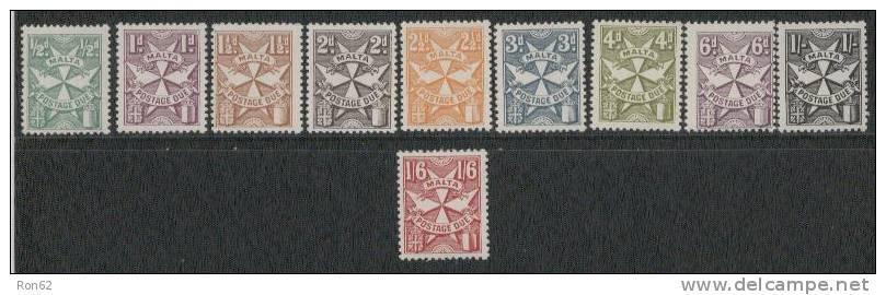 Malta Yvertnrs:taxe 31/40 Postfris - Malta