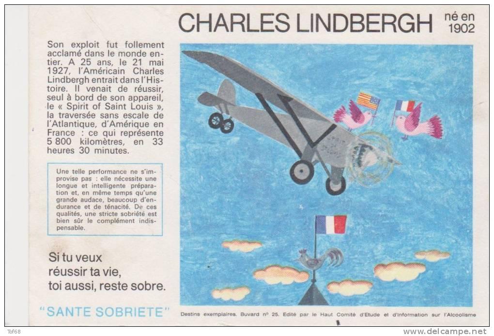 Buvard Santé Sobriété Charles Lindbergh - S
