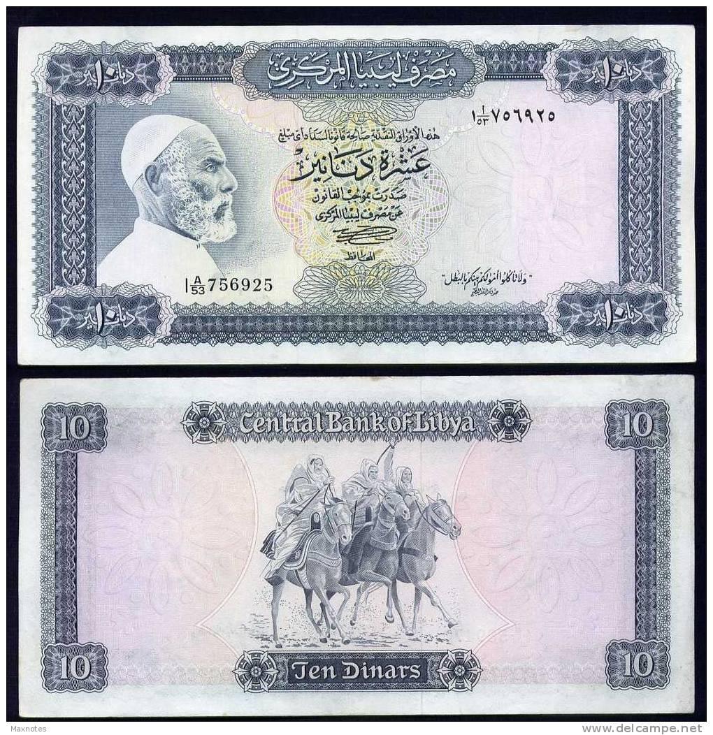 LIBIA (LIBYA) : Banconota 10 Dinari - P37b – XF - Libye