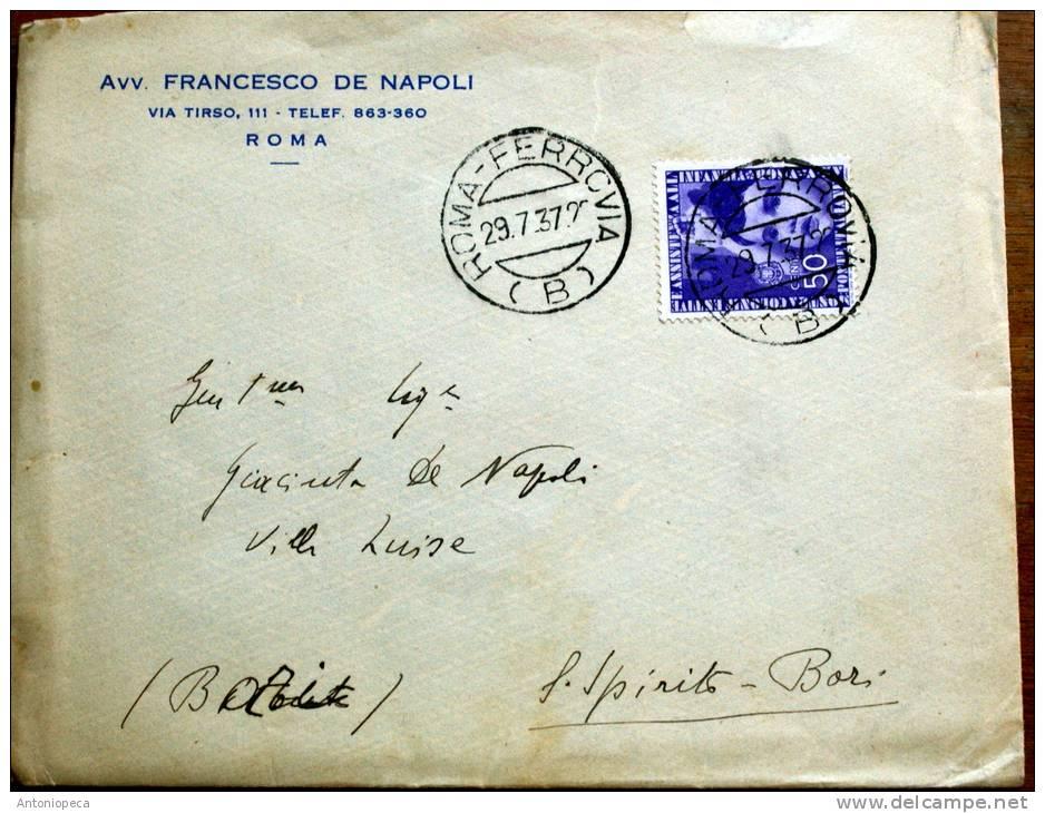 ITALIA 1937-   BELL'ESEMPLARE ASSISTENZA INFANZIA CENT 50 - 1900-44 Vittorio Emanuele III