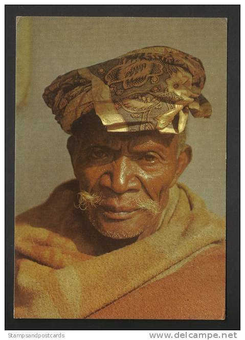 Timor Oriental Portugal Tête De Vieux Carte Postale Circa 1960 East Timor Old Man Head Postcard - Timor Oriental
