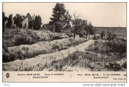 CPA Maricourt Guerre 14 18 - France
