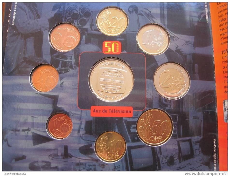 BELGICA Cartera Con Serie Euro 8 Monedas 2003 , Euroset , Bimetalica 2 , Bimetalic - Bélgica