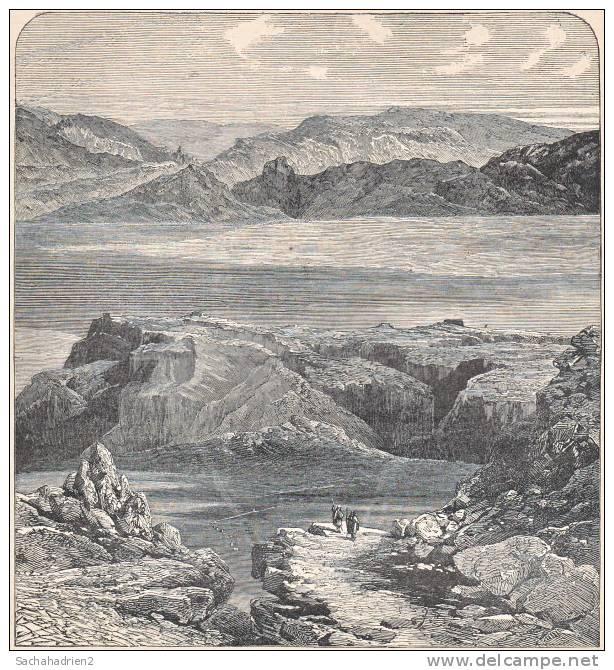 PALESTINE. La Mer Morte Près De Masada. 1892 - Vieux Papiers
