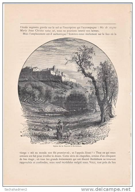 PALESTINE. Eglise De La Nativité à Bethléhem. 1892 - Vieux Papiers