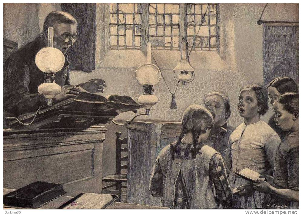 1)superbe Gravure: Le Viel Instituteur Par Melchers,2)diverses Photos,3)vues D'un Duel,4)partition: Allez, Mes Premières - Partitions Musicales Anciennes