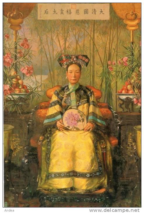CPSM...CHINE...PORTRAIT DE L'IMPERATRICE DOUAIRIERE CIXI  ..PRIX : 1,49 € - Chine