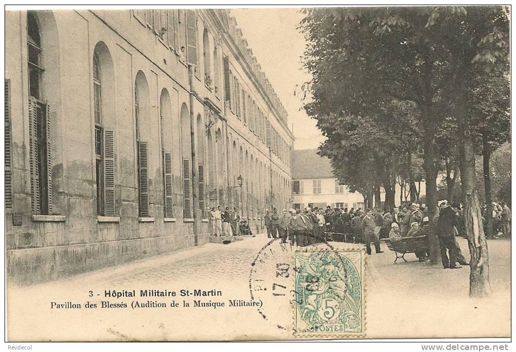 PARIS 14 - Hôpital Militaire St-Martin - Pavillon Des Blessés (audition De La Musique Militaire) - District 14