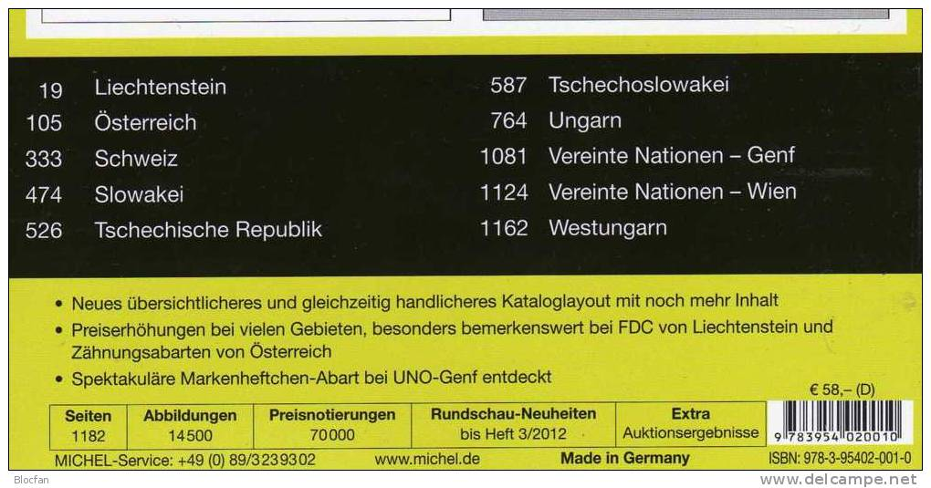 Germany And Part 1 Stamp Catalogue 2012/2013 New 102€ Deutschland+Mittel-Europa MlCHEL With D A CH CSR HU FL Slowakei UN - Other