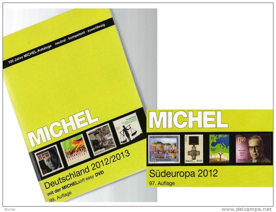 Germany And Part 3 Stamp Catalogue 2012/2013 New 102€ Deutschland+Süd-Europa MlCHEL With D I YU Malta SLO AL SRB Vatikan - Other