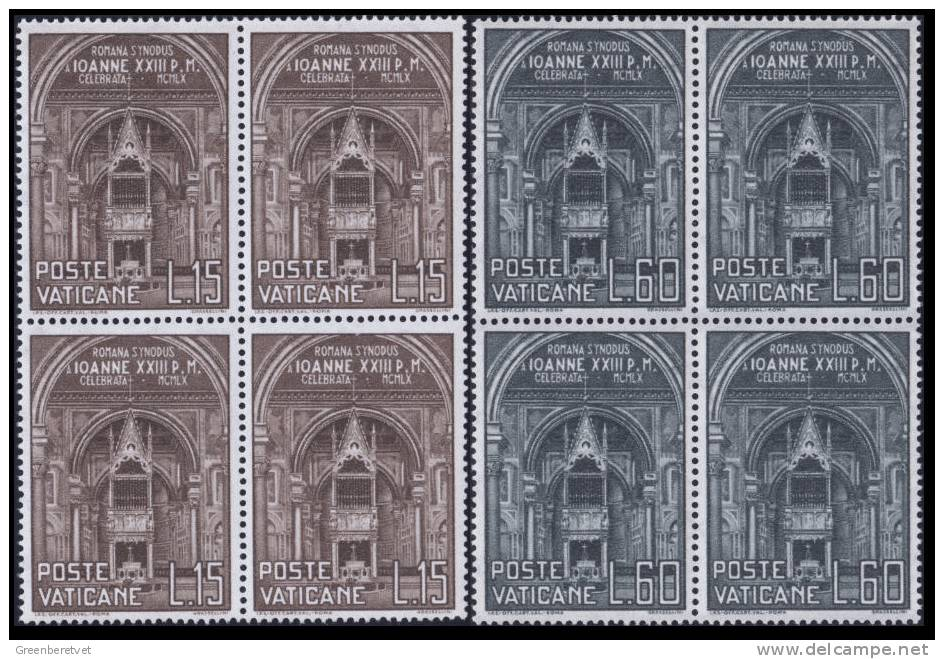 Vatican City Scott # 273-274 Mi 332-333 Yt 287-288 Sass Sassone 269-270 ** 1960 Block Set MNH - Vatican