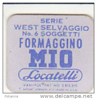 PO6686B# FIGURINA ANIMATA FORMAGGINO MIO LOCATELLI Anni '60 Serie WEST SELVAGGIO - INDIANO - Pubblicitari
