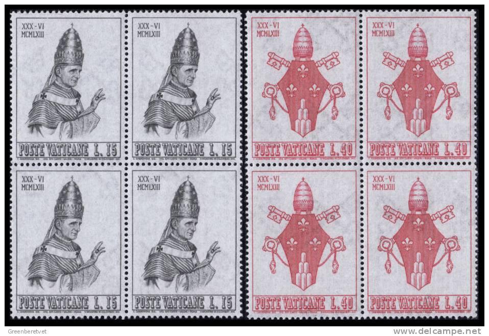 Vatican City Scott # 365-368 Mi 432-435 Yt 383-386 Sass Sassone 365-368 ** 1963 Block Set MNH - Vatican