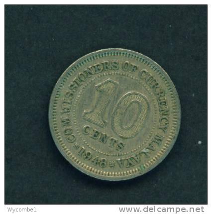 MALAYA  -  1948  10 Cents  Circulated As Scan - Malaysie