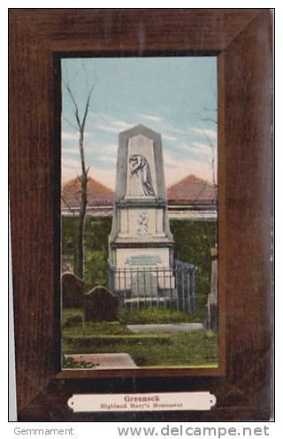 GREENOCK - HIGHLAND  MARYS MONUMENT - Renfrewshire
