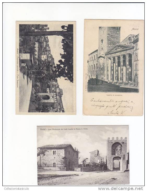 E9- Lotto Di 3 Cartoline Formato Piccolo Assisi - Alessandria