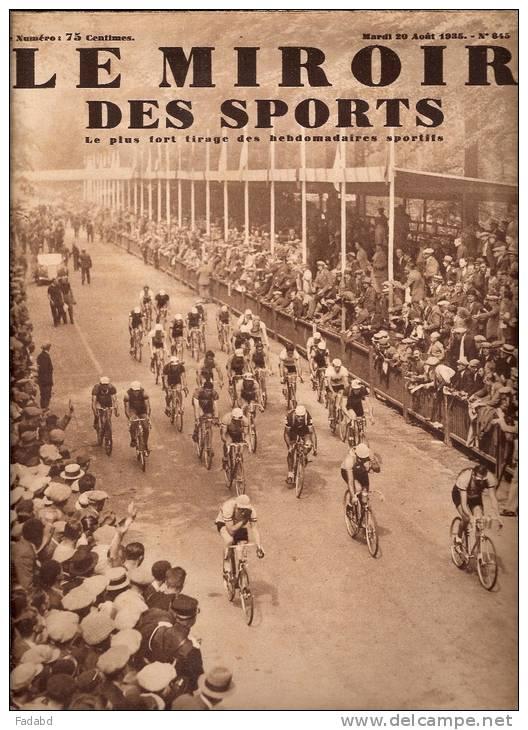 Le miroir des sports 20 aout 1935 n 845 floreffe for Le miroir des sports