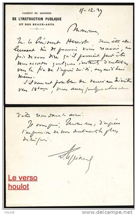 Cabinet Du Ministre De L'Instruktion Publique Et De Beaux Arts , Ministerbrief Vom 11. 12. ??. - 1870 Besetzung Von Paris