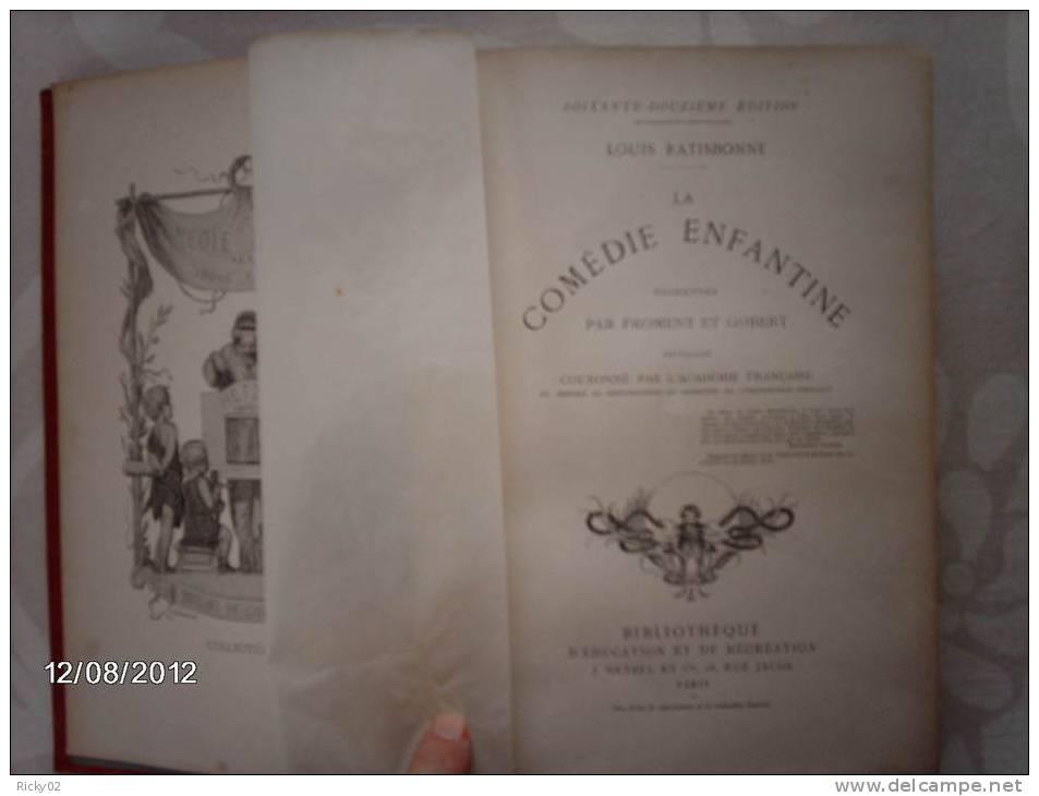 Cartonnage HETZEL-livre Ancien-LA COMEDIE ENFANTINE-Ratisbonne-XiXè - 1801-1900
