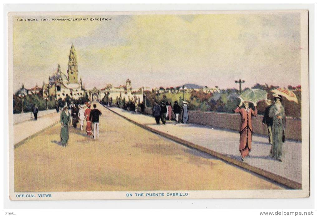 AMERICA PANAMA OFFICIAL VIEWS, ON THE PUENTE CABRILLO OLD POSTCARD - Panama