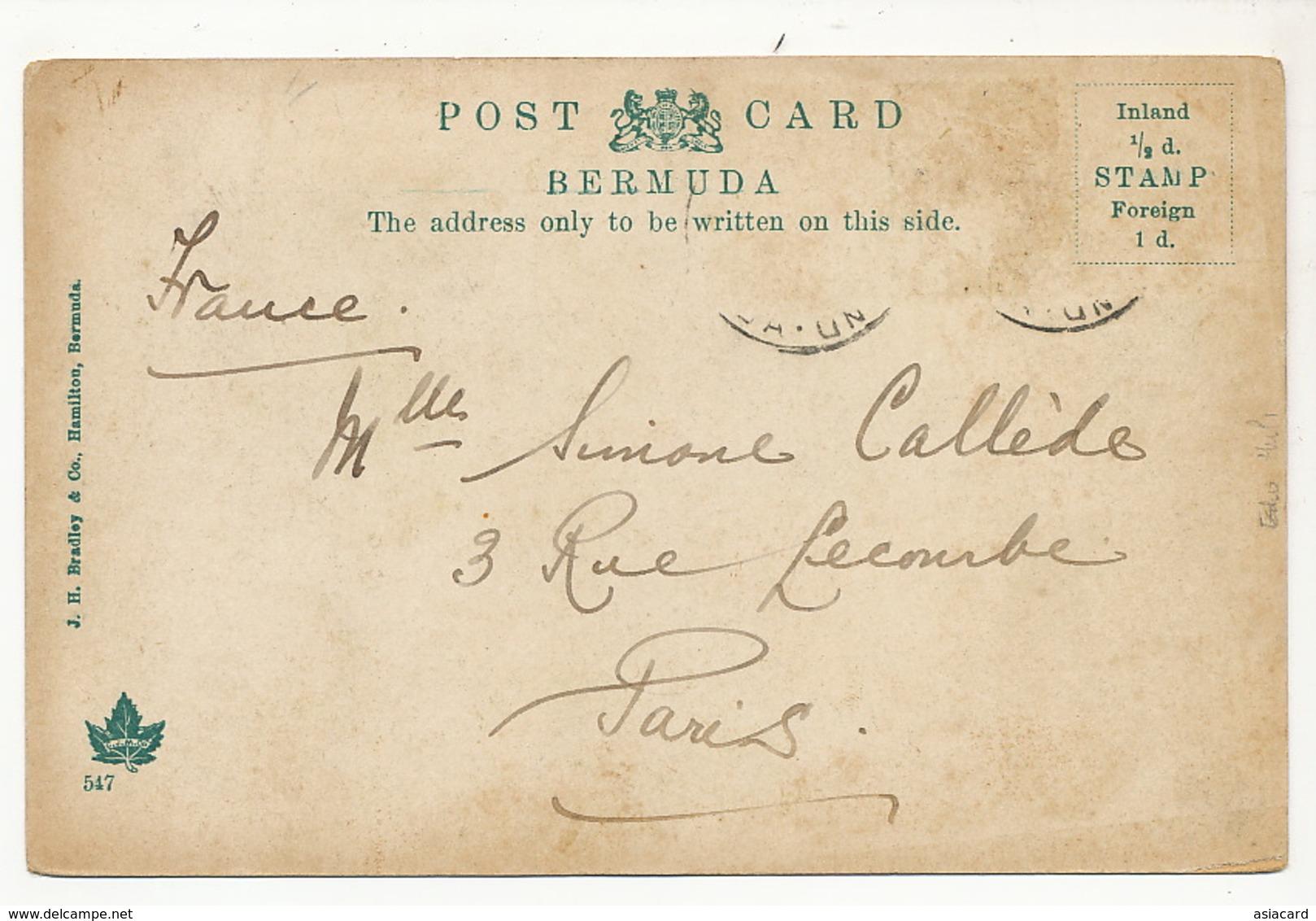 Bermuda Bermudes Gibbs Lighthouse 1907 Stamp Removed Edit Bradley 547  Phare - Bermudes