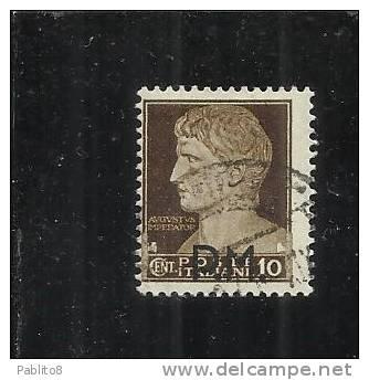 ITALIA REGNO 1942 POSTA MILITARE CENT.10 USATO - Military Mail (PM)