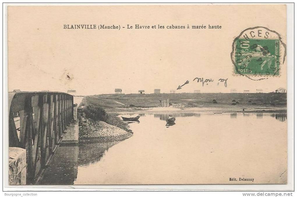 Blainville Sur Mer - Le Havre Et Les Cabanes A Maree Haute  - CPA° - Blainville Sur Mer