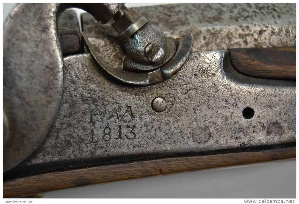 Ancien Fusil A Poudre Noire 1813 (percussion) Modèle à Silex Modifié  - Decorative Weapons