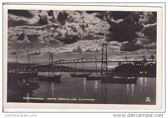 Brazil Cartao Postal Florianopolis Foto Old  Ca1940 Vintage Original Postcard Cpa Ak (W3_863) - Florianópolis