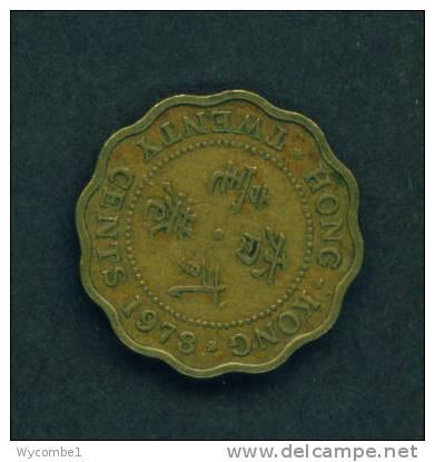 HONG KONG  -  1978  20 Cents  Circulated As Scan - Hong Kong
