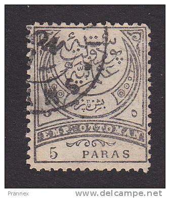 Turkey, Scott #74, Used, Crescent, Issued 1886 - 1858-1921 Ottoman Empire