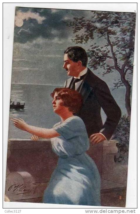 Italie - Pietro Villani - Couple D'amoureux - Otros Ilustradores