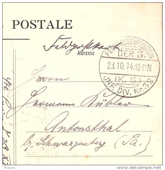 Carte Postale Militaria -1914- Camp De Sissonne - L´heure De La Soupe-Bidasses - Feldpost  -DER 3. (K.S)- JNF.DIV.N°32 - Guerre 1914-18