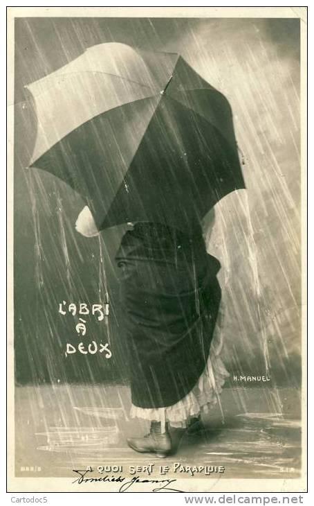 L'Abri à Deux  A Quoi Sert Le Parapluie  H.Manuel  Cpa - Femmes