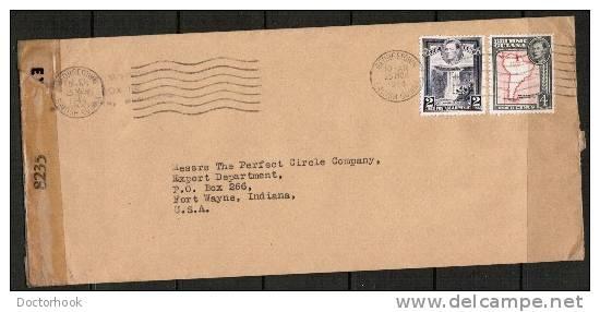BRITISH GUIANA     SCARCE 1944 CENSOR COVER TO Fort Wayne, Indiana USA (25/MCH/1944) OS-46 - British Guiana (...-1966)