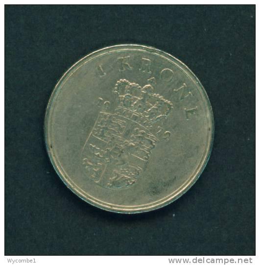 DENMARK  -  1972  1 Krone  Circulated As Scan - Denmark