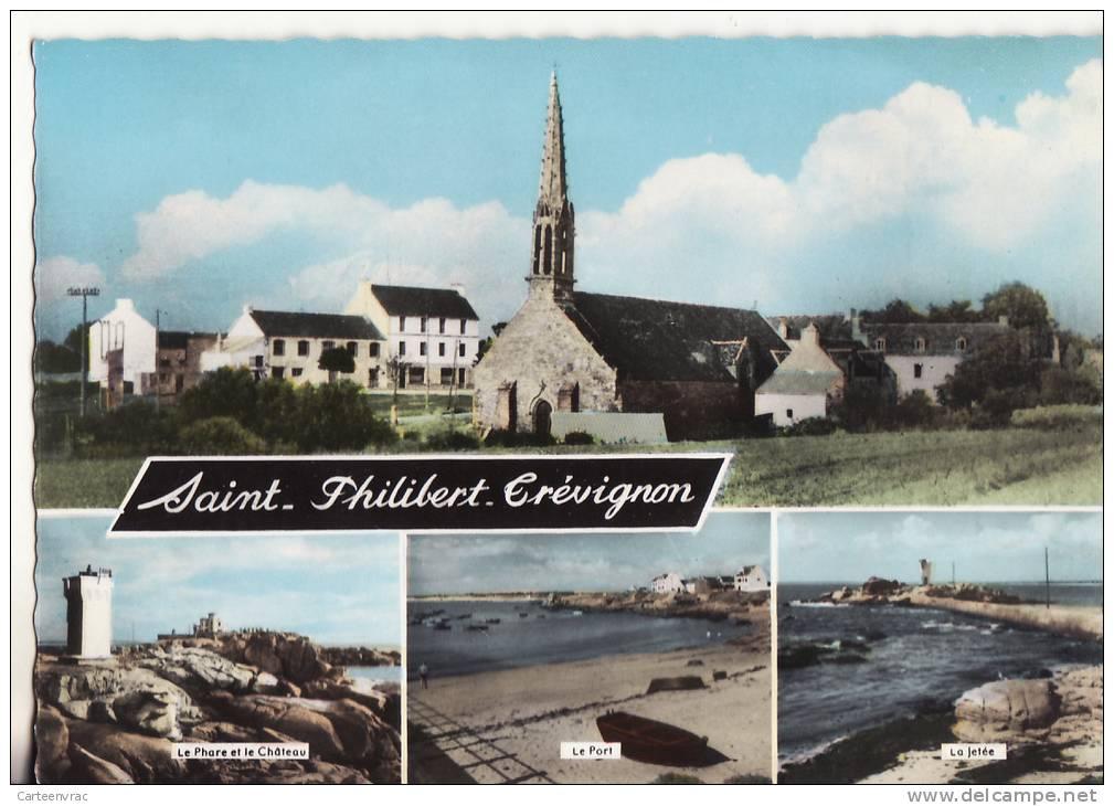 1077 Cpsm Carte Multi Vue Saint Philibert Trévignon - France