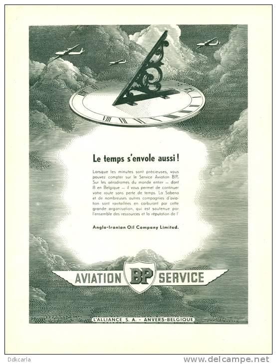 Reclame Advertentie Uit Oud Tijdschrift 1950 - BP Aviation Service - L'Alliance S.A. - Anvers-Belgique - Reclame