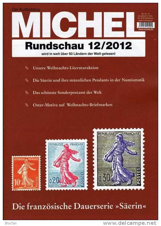 MICHEL Briefmarken Rundschau 12/2012 Neu 5€ New Stamps Of The World Catalogue And Magacine Of Germany - Ocio & Colecciones