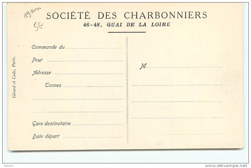 PARIS  -  Société Des Charbonniers  - Chantier Du Boulevard De Grenelle, 34. - Arrondissement: 19