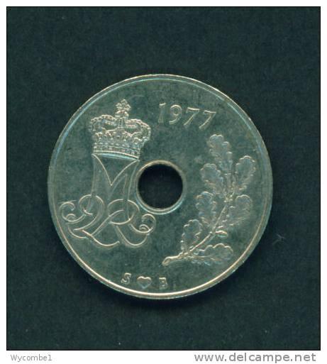 DENMARK  -  1977  25 Ore  Circulated As Scan - Denmark