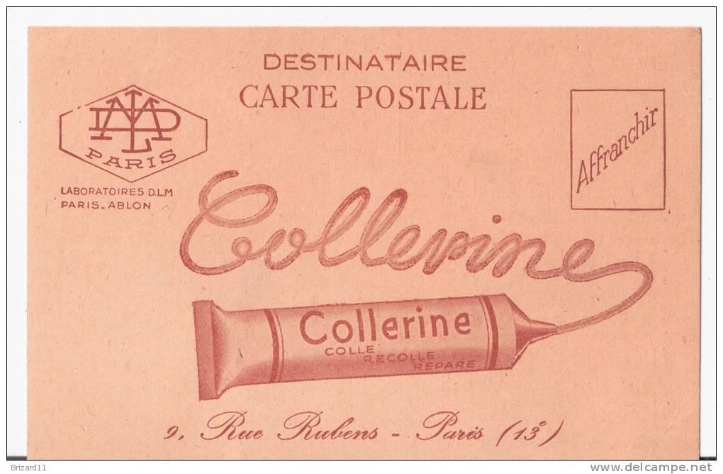 """CARTE POSTALE PUB.  """"COLLERINE"""" 9,Rue Rubens. PARIS. - Reclame"""