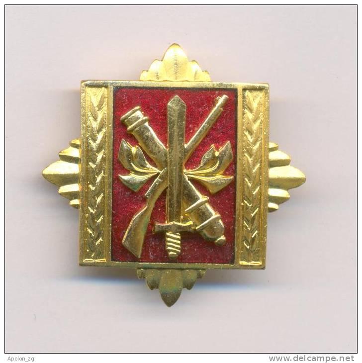 YUGOSLAVIA - SFRJ * ARMY STAFF AND COMMANDING ACADEMY 1971-1991  , RARE BREAST BADGE - Andere