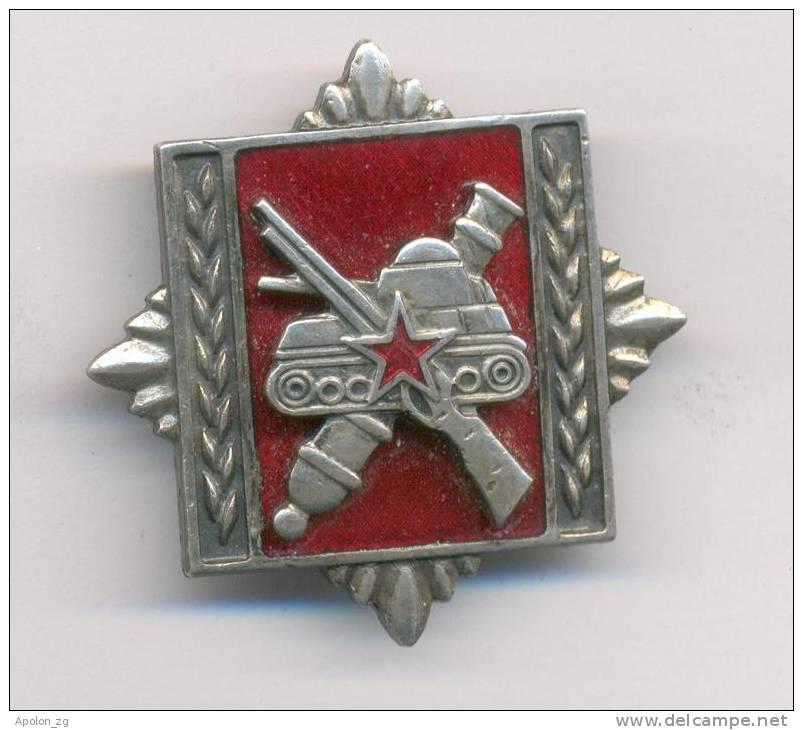 YUGOSLAVIA - SFRJ - JUGOSLAWIEN* ARMY MILITARY ACADEMY 1974-1991. VOJNA AKADEMIJA KOPNENE VOJSKE 1974-1991. Bresat Badge - Other