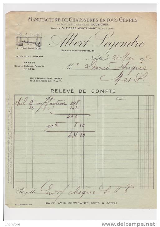 ALBERT LEGENDRE Manufacture De Chaussures SAINT PIERRE MONTLIMART Pont Transpordeur - France