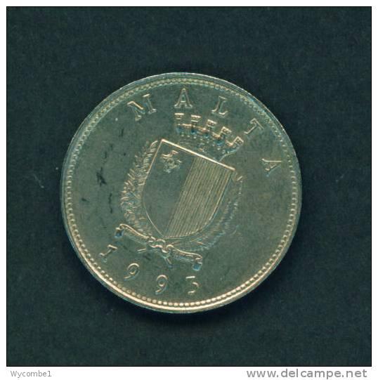 MALTA  -  1993  25 Cents  Circulated As Scan - Malta