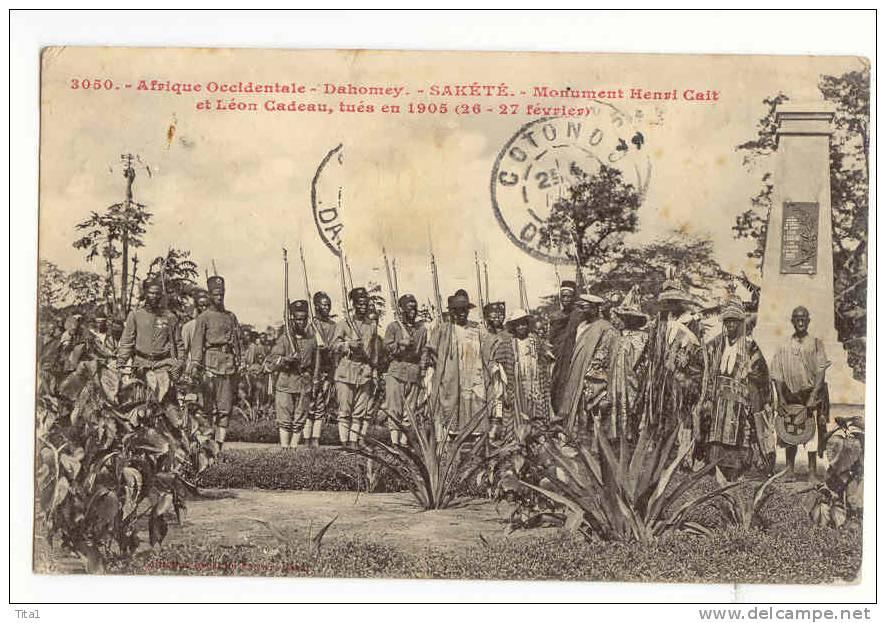 D 10210 - Sakété - Monument Henri C Ait Et Léon Cadeau, Tués En 1905 - Dahomey