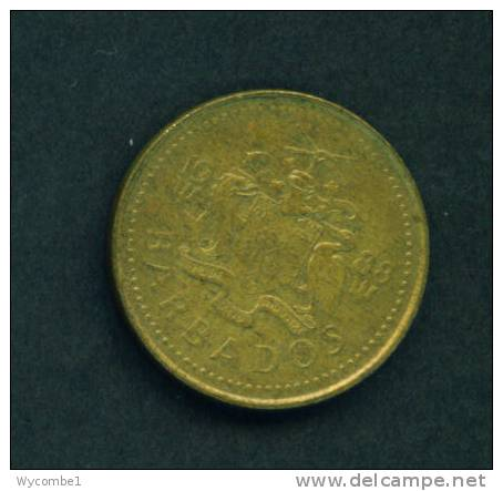 BARBADOS  -  1988  5 Cents  Circulated As Scan - Barbades