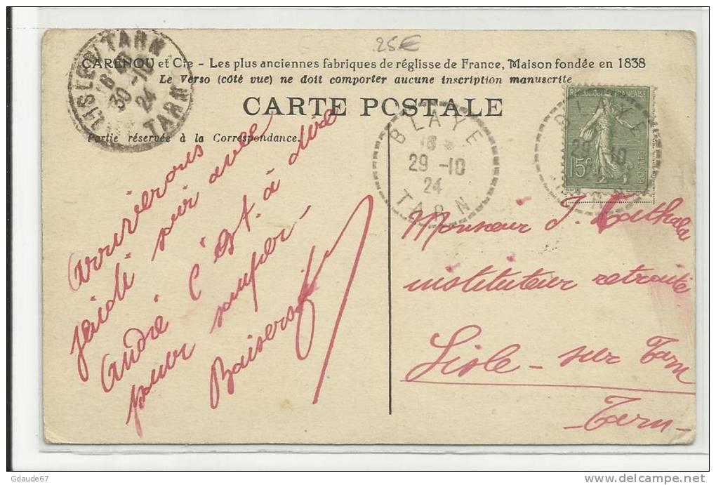 MOUSSAC (GARD - 30) - CPA - USINE DE MOUSSAC - SALLE DE FABRICATION DE BATONS DE REGLISSE - France