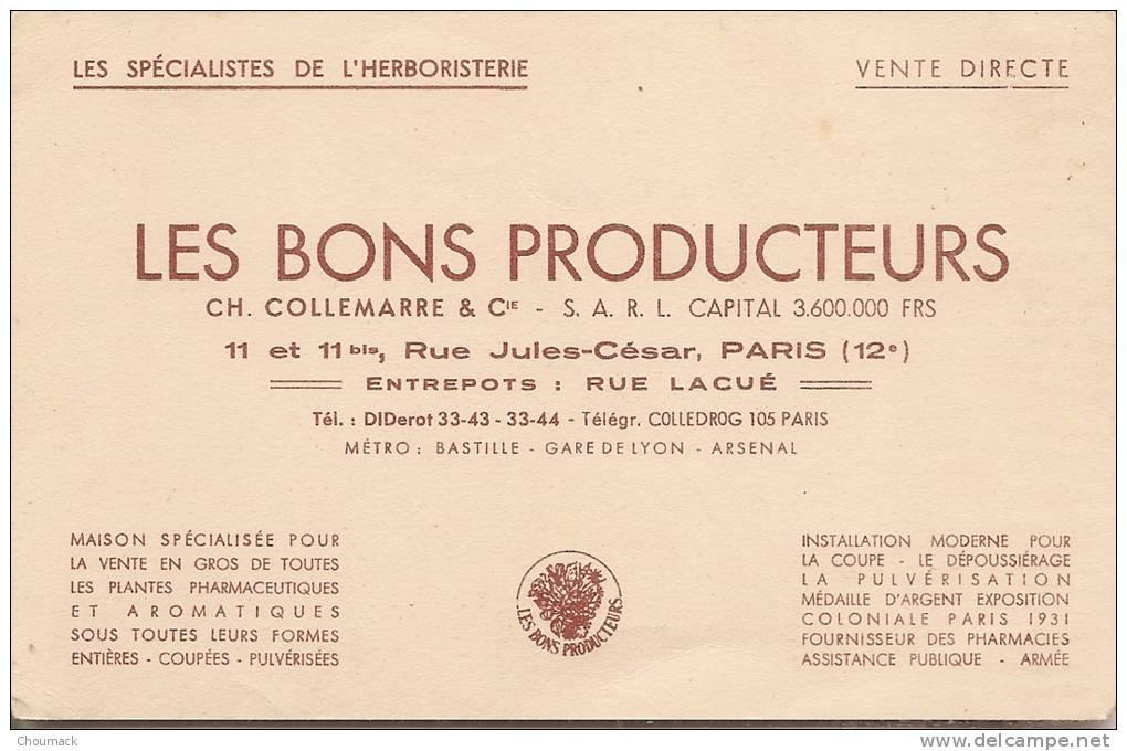 """Publicité Ancienne Les Bons Producteurs  """" L´Herboriste En 1900 """" - Métiers"""